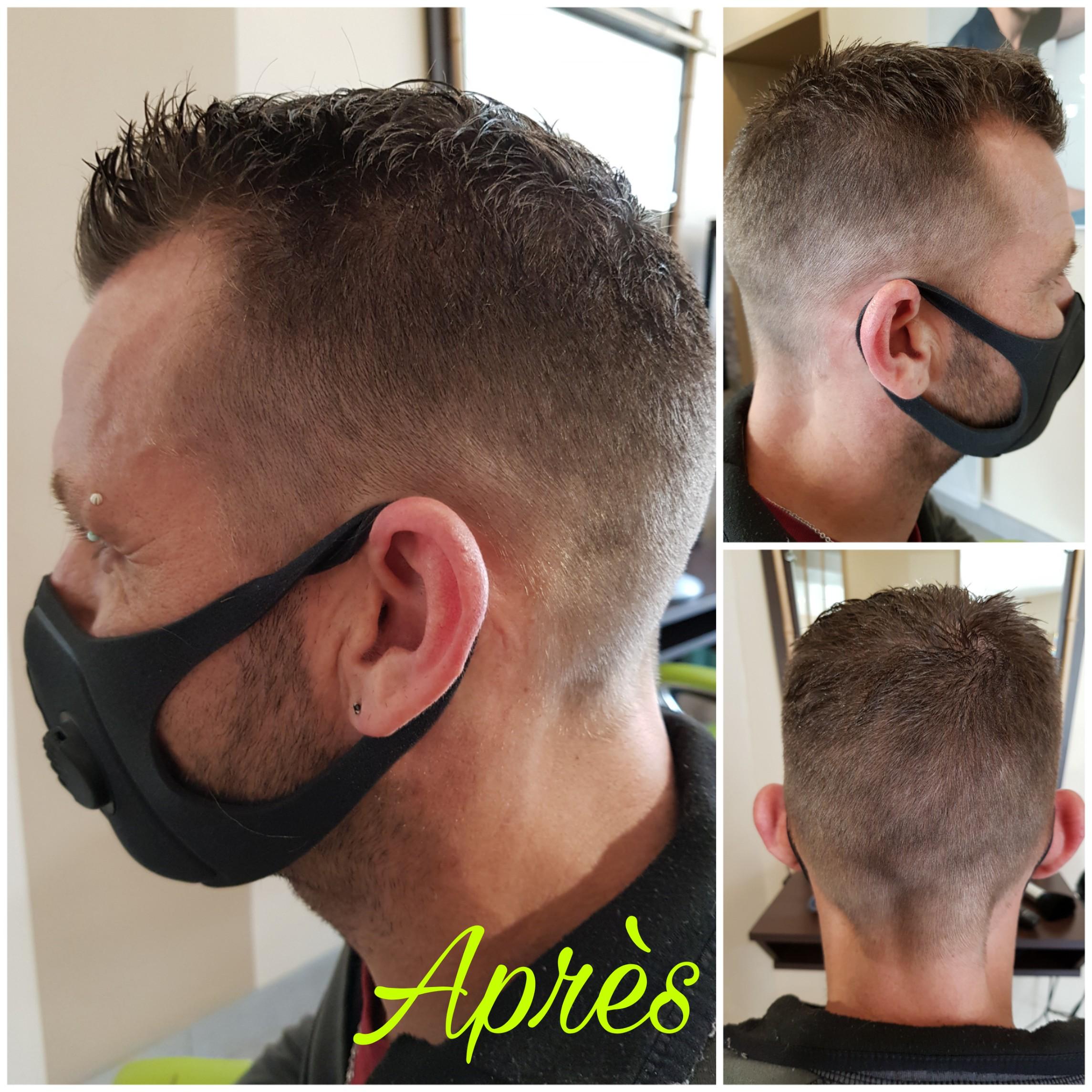 Coupe homme après - A l'hair libre coiffure