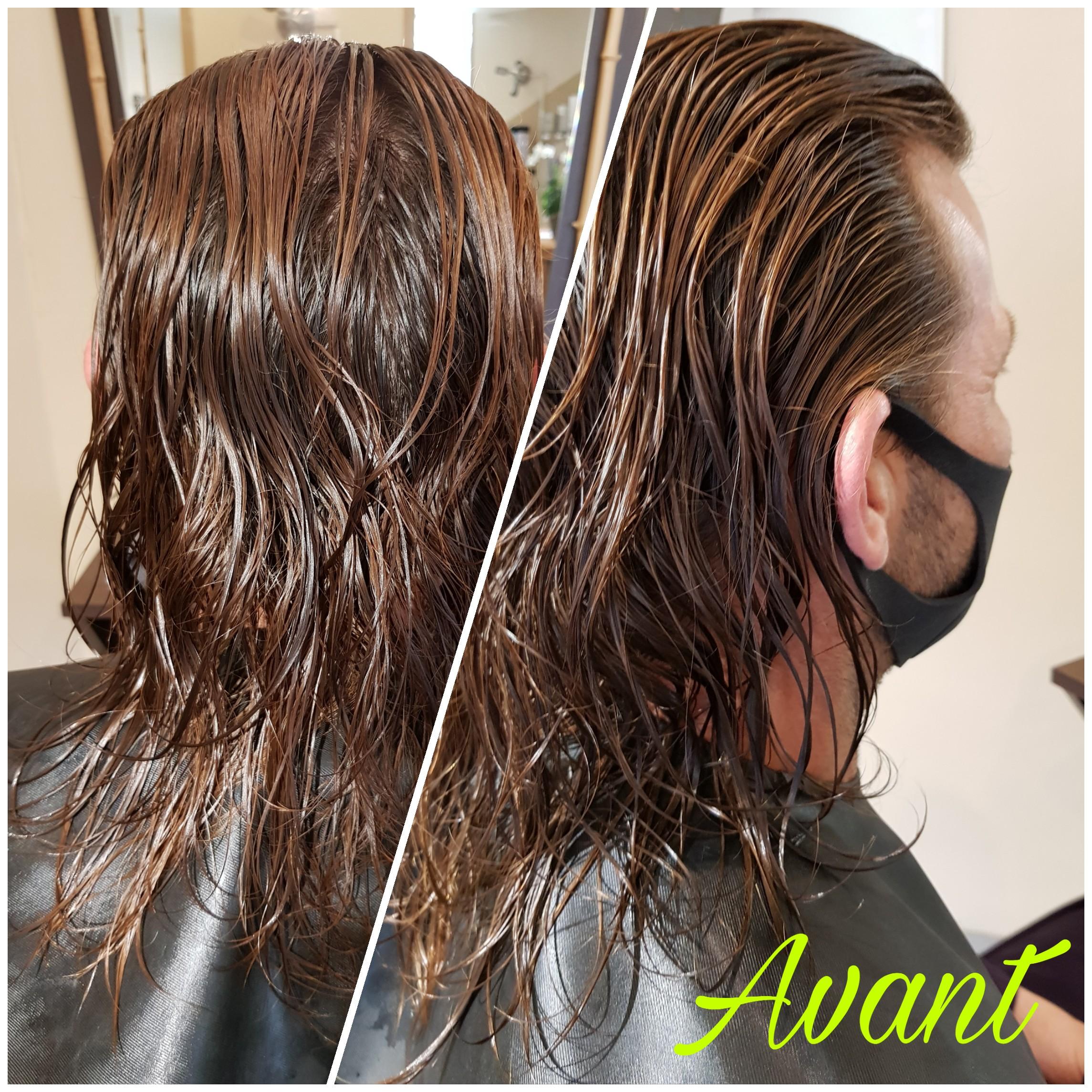 Coupe homme avant - A l'hair libre coiffure